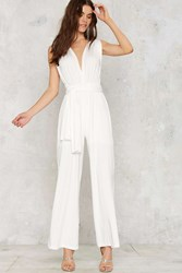 Nasty Gal All Time Low Halter Jumpsuit White