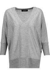Magaschoni Silk And Cashmere Blend Sweater Gray