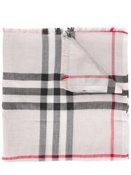Burberry Housecheck Scarf Nude Neutrals