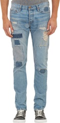 Nsf Ripped And Repaired Jeans Blue Size 34W