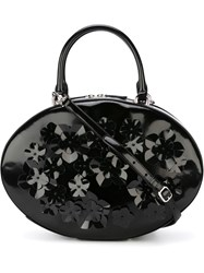 Simone Rocha Flower Decorations Shoulder Bag Black