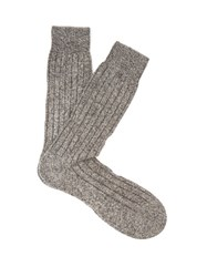 Pantherella Waddington Cashmere Blend Socks Charcoal