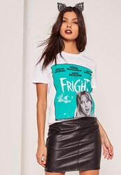 Missguided Fright Movie T Shirt White