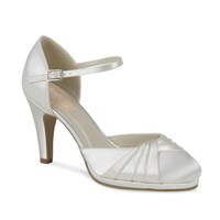 Paradox London Pink Two Part Pleated Front Platform Shoes Ivory