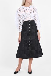 A.W.A.K.E. Button Up Quilted Skirt Black