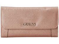 Guess Delaney Slim Clutch Roese Gold Clutch Handbags Pink