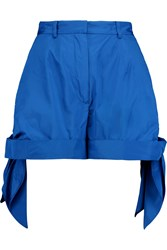 Carven Ruched Shell Shorts Blue