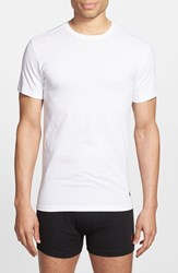 Polo Ralph Lauren Men's 3 Pack Slim Fit T Shirt White White