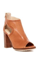 Manas Design Peep Toe Bootie Brown