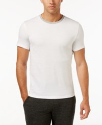Kenneth Cole Reaction Downtime Ringer T Shirt White