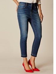 Karen Millen Limited Edition Cropped Jeans Denim