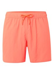 Topman Neon Orange Runner Style Swim Shorts