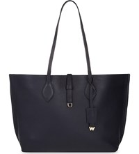 Whistles Regent Leather Tote Navy