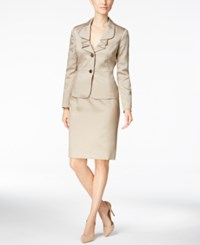Le Suit Two Button Shimmer Skirt Titanium