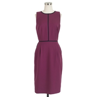 J.Crew Tipped Dress In Super 120S Wool