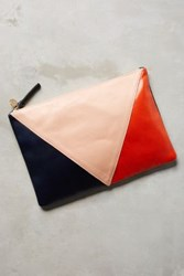 Anthropologie Angular Pouch Pink