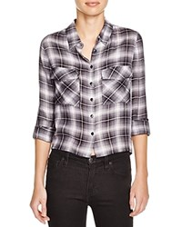 Romeo And Juliet Couture Split Back Plaid Shirt Compare At 130 Grey Ivory