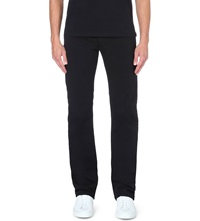 Armani Jeans Stretch Cotton Gabardine Trousers Black