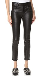 Helmut Lang Zip Leather Pants Black