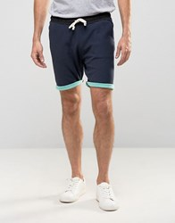 Scotch And Soda Contrast Sweat Shorts Navy