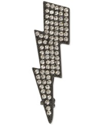 Inc International Concepts Hematite Tone Metallic Pave Lightning Bolt Pin Only At Macy's Gray
