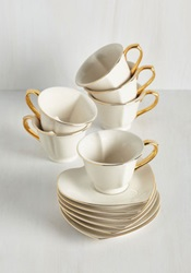 Dream And Sugar Tea Set In Ivory