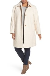 Gallery Plus Size Women's Basket Weave Jacket Oatmeal