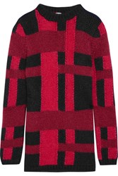 Tod's Mohair And Silk Blend Sweater Red