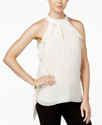 Bar Iii Ruffled Halter Blouse Only At Macy's Egret
