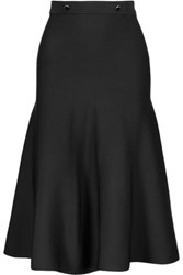 Sandro Jasmine Stretch Knit Midi Skirt Black