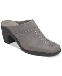 Aerosoles Apple Sawce Studded Mules Only At Macy's Women's Shoes Grey Combo