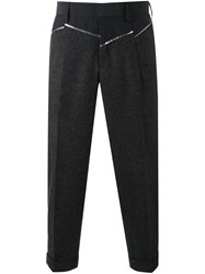 Kolor Panelled Cropped Trousers Grey