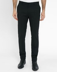 Ikks Black Wool Blend Suit Trousers