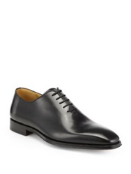 Saks Fifth Avenue By Magnanni Leather Balmoral Shoes Black