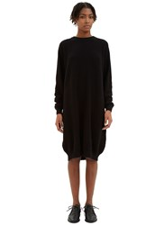 Kowtow See You There Waffle Knit Sweater Dress Black