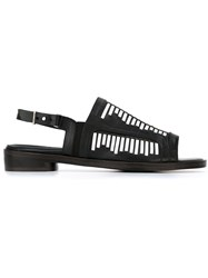 Thakoon Addition Sling Back Lattice Sandals Black