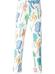 Our Legacy 'First Cut Graffiti Palms' Trousers Multicolour