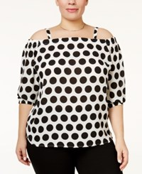 Inc International Concepts Plus Size Off The Shoulder Polka Dot Top Only At Macy's Bold Dot