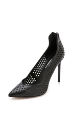 Rachel Zoe Callie Perforated Pumps Black