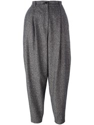 Dolce And Gabbana Herringbone Tweed Harem Trousers Black