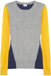 Iris And Ink Tri Tone Color Block Cashmere Sweater