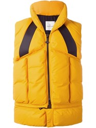 Moncler X Off White 'Giverny' Padded Gilet Yellow Orange
