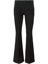 Victoria Beckham Denim Flared Jeans Black