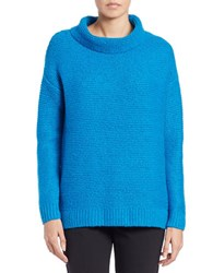 424 Fifth Funnelneck Sweater Pool Blue