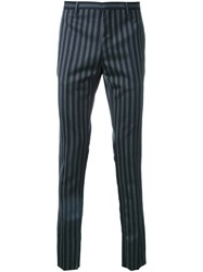 Lanvin Striped Tailored Skinny Trousers Black