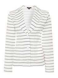 Therapy Suri Single Breasted Box Jacket Black White