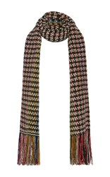 Isabel Marant Daddy Scarf Green Red Black