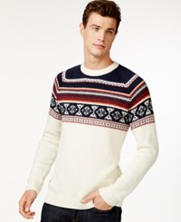 Wesc Fairisle Print Sweater Winter White