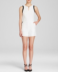Lucy Paris Romper Color Block White