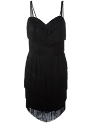 Moschino Vintage Tassel And Fringed Dress Black